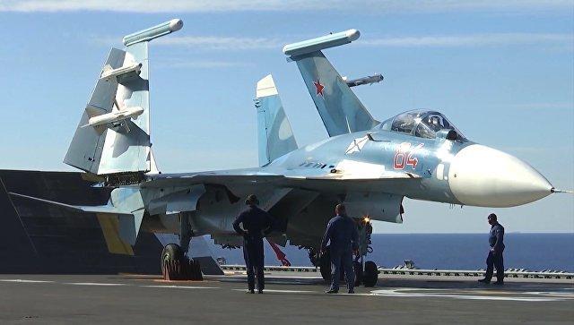 Истребители с «Адмирала Кузнецова» уничтожили десятки боевиков «ан-Нусры»