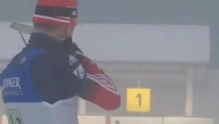 Российские биатлонисты бегут в Южную Корею. Ну и флаг им в лыжи