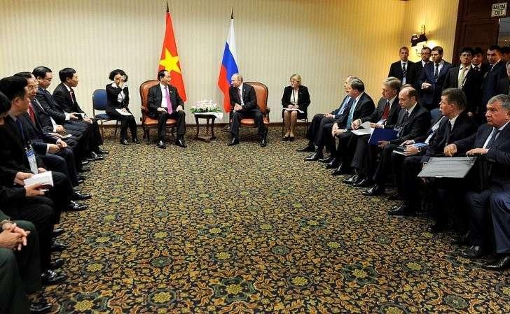 Встреча сПрезидентом Социалистической Республики Вьетнам Чан Дай Куангом.