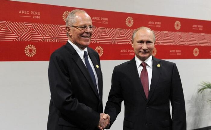 Встреча Владимира Путина с Президентом Перу Педро Пабло Кучински