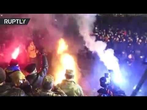 Майдан сдулся, на нём остаются лишь несколько десятков человек