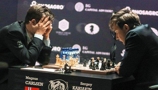 Карякин победил Карлсена в партии матча за мировую шахматную корону