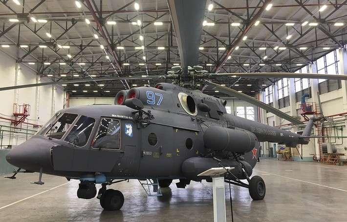 10. «Вертолеты России» изготовили первый «арктический» вертолет Ми-8АМТШ-ВА для авиации ВМФ России Сделано у нас, политика, факты
