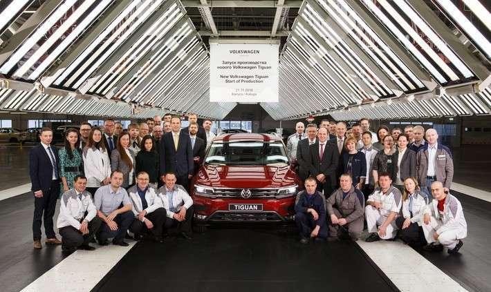 12. Калужский завод Volkswagen начал производство нового Tiguan Сделано у нас, политика, факты