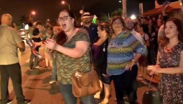 Американское жлобьё в Майами празднует смерть Фиделя Кастро Рус
