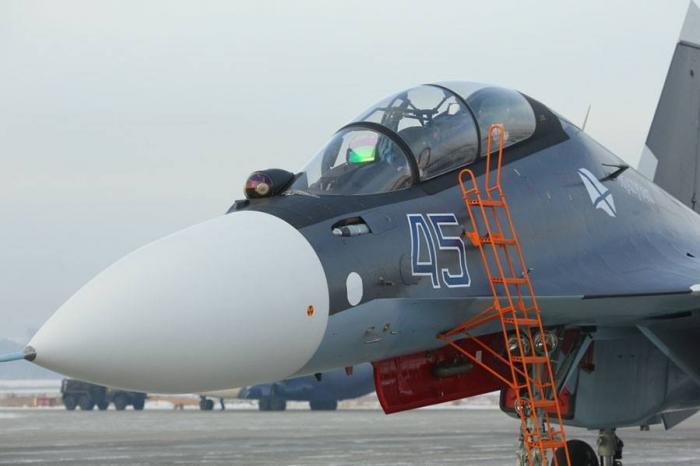 Морской авиации ВМФ России сегодня передали очередную партию истребителей Су-30СМ