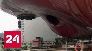 В России спущен на воду самый мощный ледокол в мире