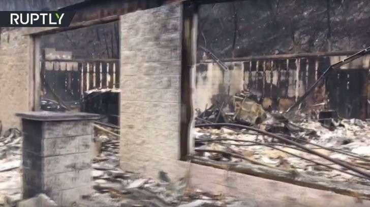 Пожары превратили штат Теннесси в площадку для съёмок фильмов ужасов