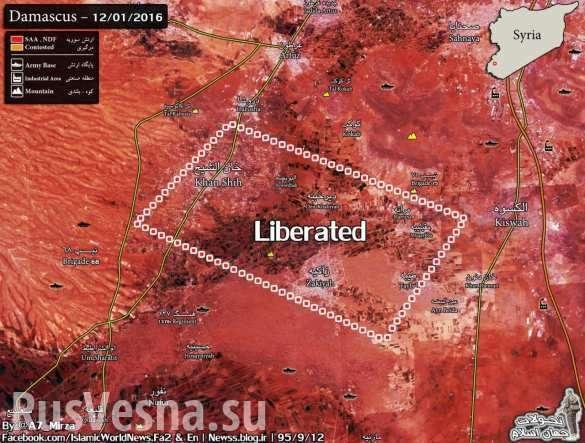 Армия Сирии освободила регион Западная Гута, получив 7 танков и 11 БМП боевиков | Русская весна