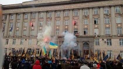 Террористы «Азова» оккупировали здание ОГА в Черкассах