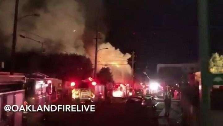 При пожаре в ночном клубе Окленда могли погибнуть до 40 человек