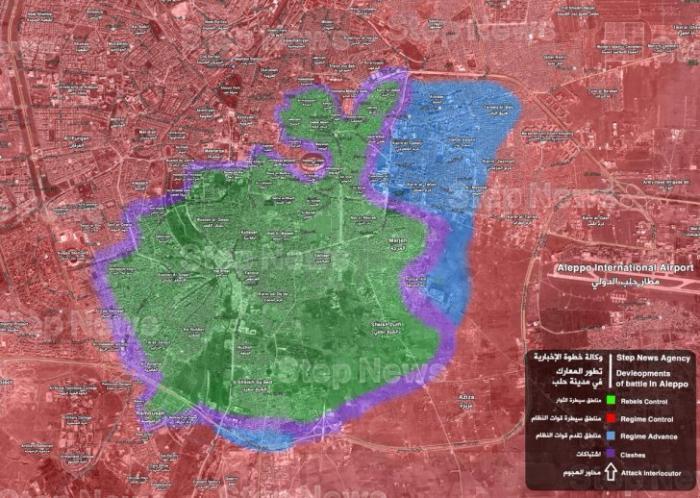 Сирийская армия уверенно «дожимает» боевиков в Алеппо