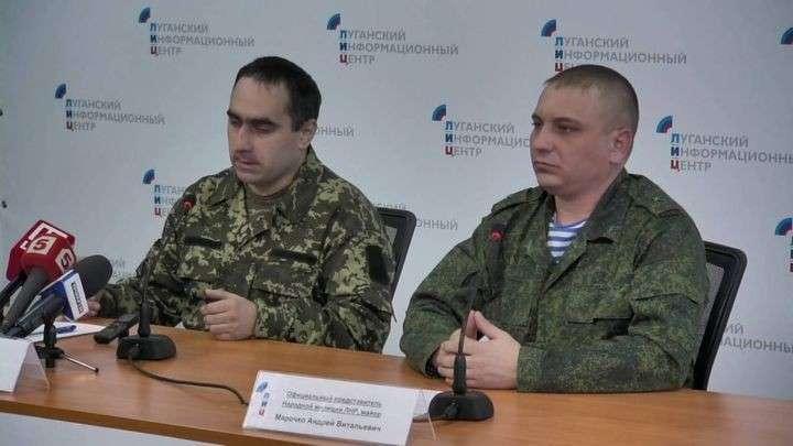 Перешедший на сторону ЛНР украинский военный дал пресс-конференцию в Луганске