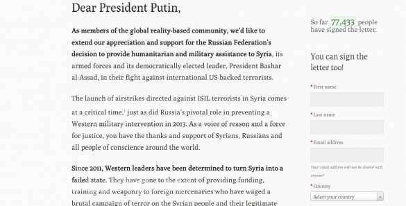 Dear Putin: иностранные граждане открыли сайт на 20 языках в поддержку Президента РФ Владимира Путина