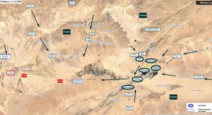Сирийская армия готовит ответный удар по врагу захватившему Пальмиру