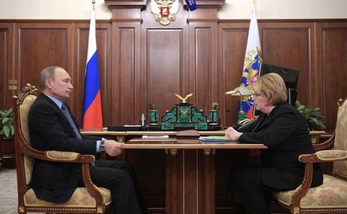 Владимир Путин провёл рабочую встречу с Министром здравоохранения Вероникой Скворцовой