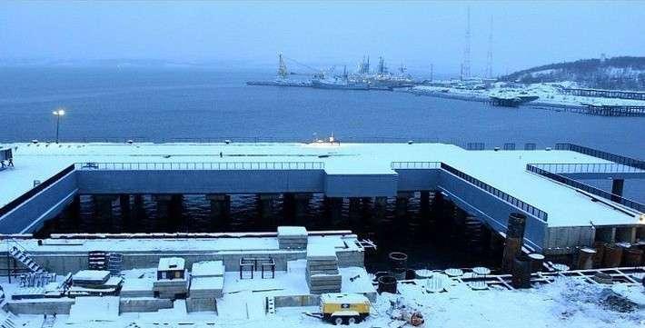 В Мурманской области завершено строительство сложного причального сооружения для Северного флота