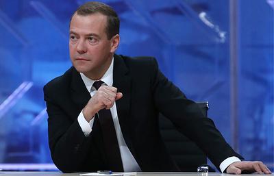 Интервью Дмитрия Медведева российским телеканалам - прямая трансляция