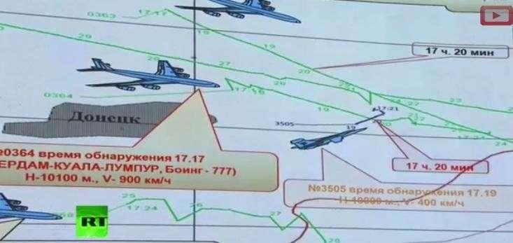 В одном коридоре с малайзийским Boeing 777 находился самолёт ВВС Украины