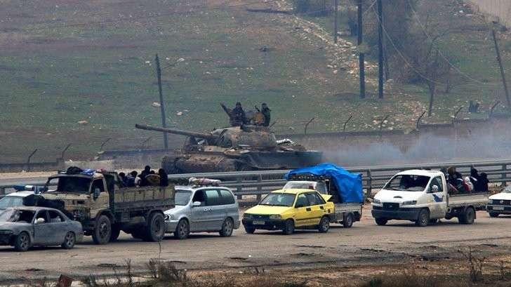 Покидающие Алеппо американские наёмники пытались вывезти тяжёлое оружие