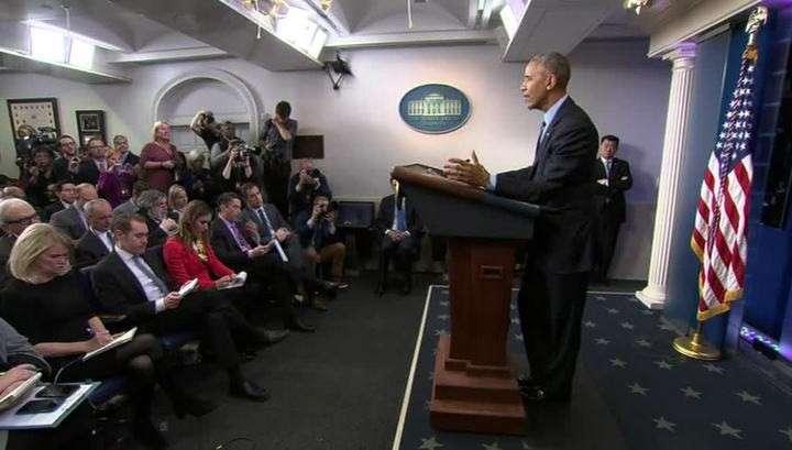 Нелепая пресс-конференция: уходящий Обама сел в лужу и ушёл по-гавайски
