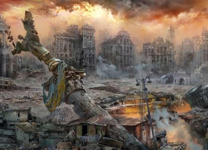 Еврейская Хунта придерживается на Украине тактики «выжженной земли»