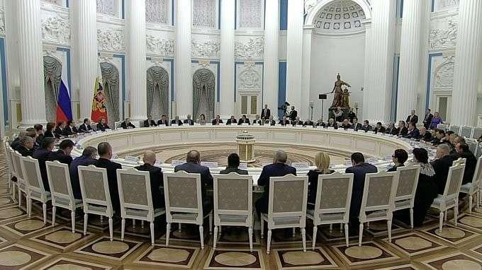 Вступительное слово навстрече сруководством Совета Федерации иГосударственной Думы