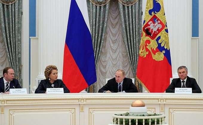 Владимир Путин провёл встречу с руководством Совета Федерации и Государственной Думы