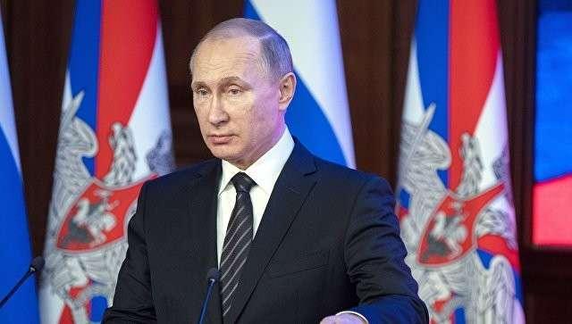 Президент России Владимир Путин на ежегодном расширенном заседании коллегии министерства обороны РФ