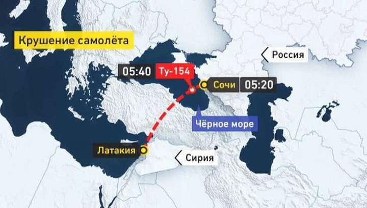 Самолёт Минобороны Ту-154 пропал с радаров при вылете из Сочи