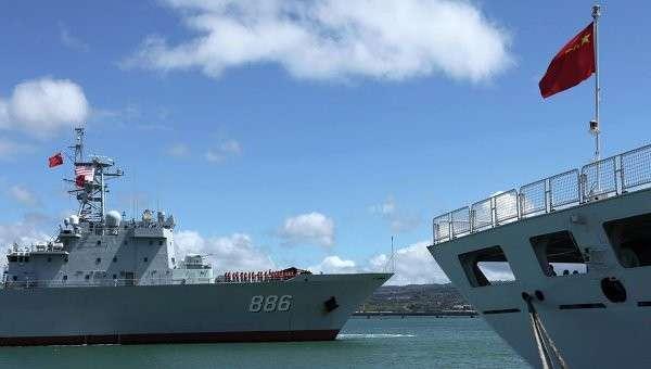 Корабли ВМФ Китая на учениях RIMPAC-2014