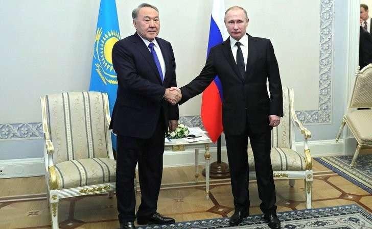 СПрезидентом Казахстана Нурсултаном Назарбаевым.