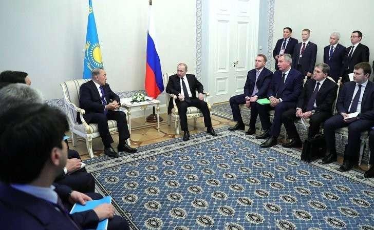 Беседа сПрезидентом Казахстана Нурсултаном Назарбаевым.