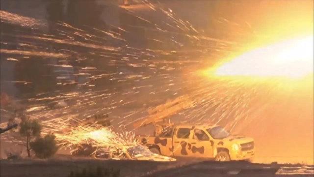 Наступление сирийской армии на боевиков в районе Вади Барада в Дамаске