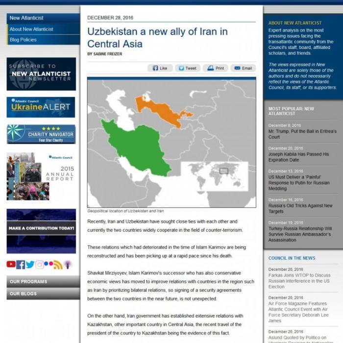 Узбекистан – новый союзник Ирана в Центральной Азии