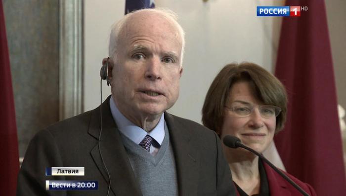 Последняя гастроль Джона Маккейна по странам русофобского лагеря