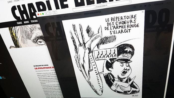 Гнилой Charlie Hebdo опубликовал карикатуру на крушение российского Ту-154