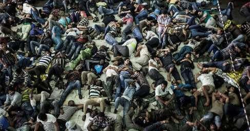 В Германии задержаны сотни мигрантов