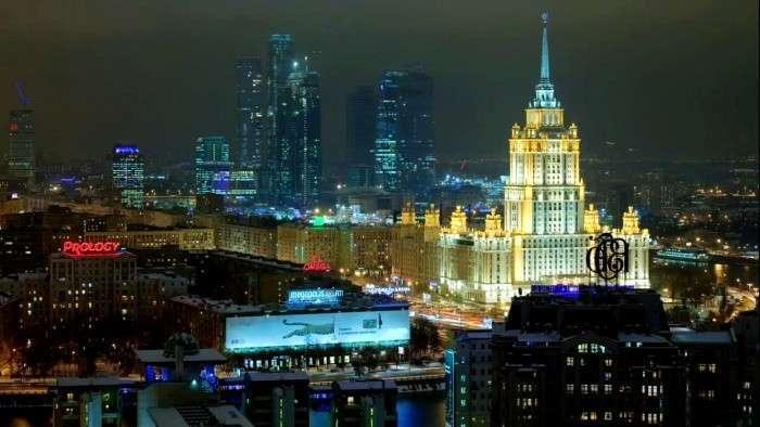 Москва вошла впятерку самых освещенных городов мира