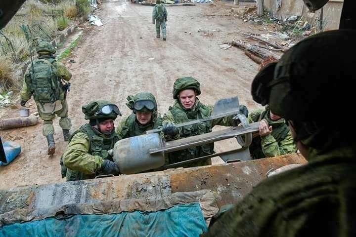 На боевом посту: русские воины в Алеппо работают безупречно