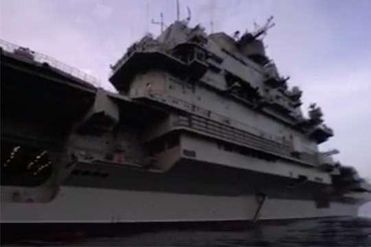 Минобороны опубликовало видео боевой работы авиации «Адмирала Кузнецова»