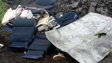 Обломки лайнера Boeing 777 Малайзийских авиалиний