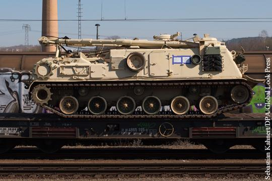 В Германии началась разгрузка бронетанковой бригады США