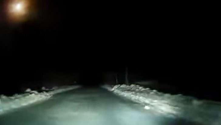 В Архангельской области засняли полет яркого метеора