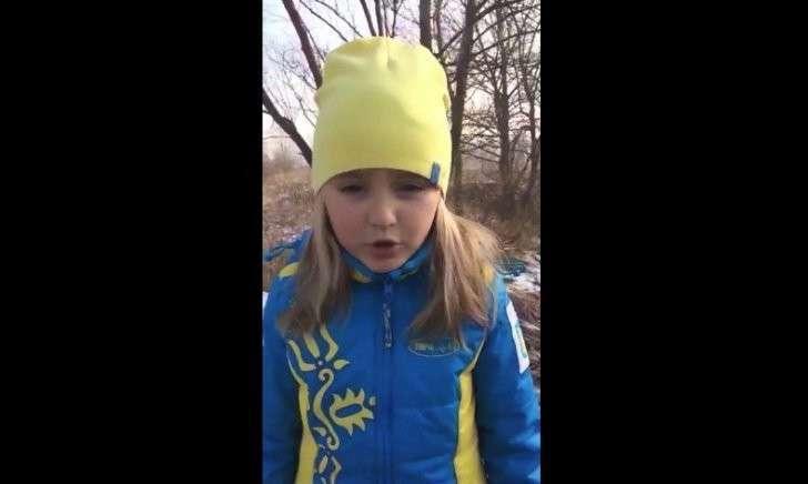 Гневное видео-обращение пятилетней украинки ко всем врагам Украины!