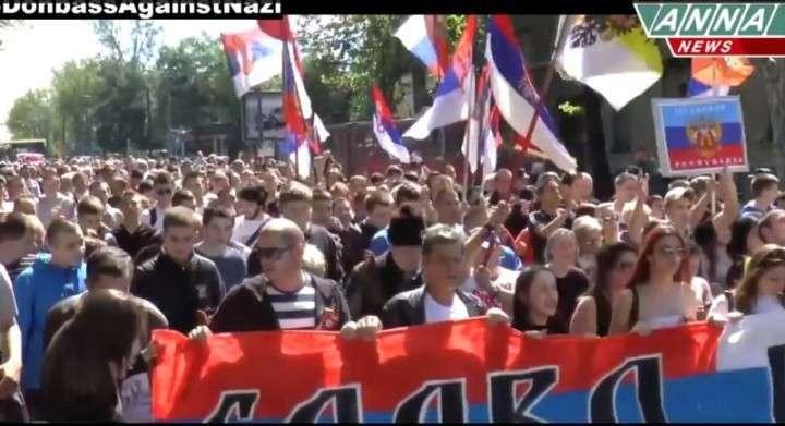 Массовый митинг прошел в Сербии в поддержку Новороссии