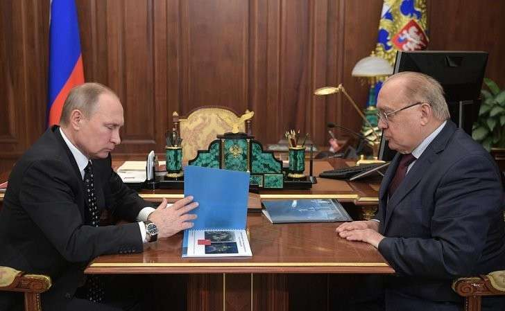 Встреча сректором МГУ Виктором Садовничим.