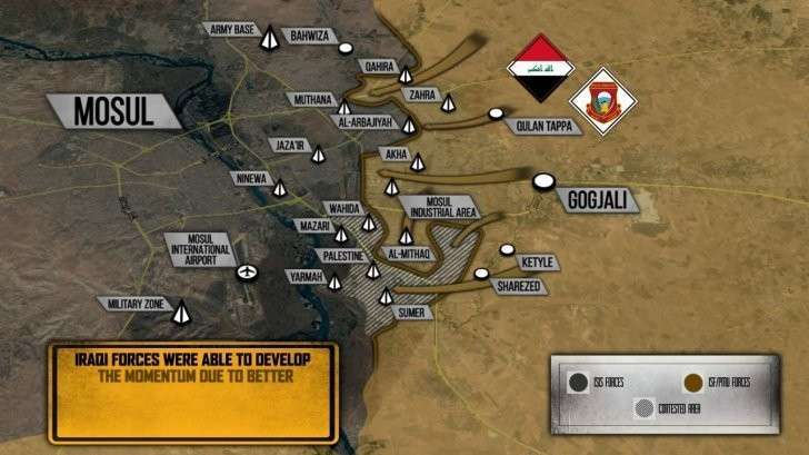 Битва за Мосул: правительственные силы Ирака контролируют 70% восточной части города