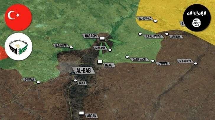 Военная обстановка в Сирии. Провал спецназа США, окружение Турцией Эль Баба