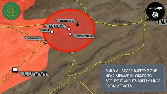 Военная обстановка в Сирии: Армия отразила атаку ИГИЛ на базу Тияс под Пальмирой